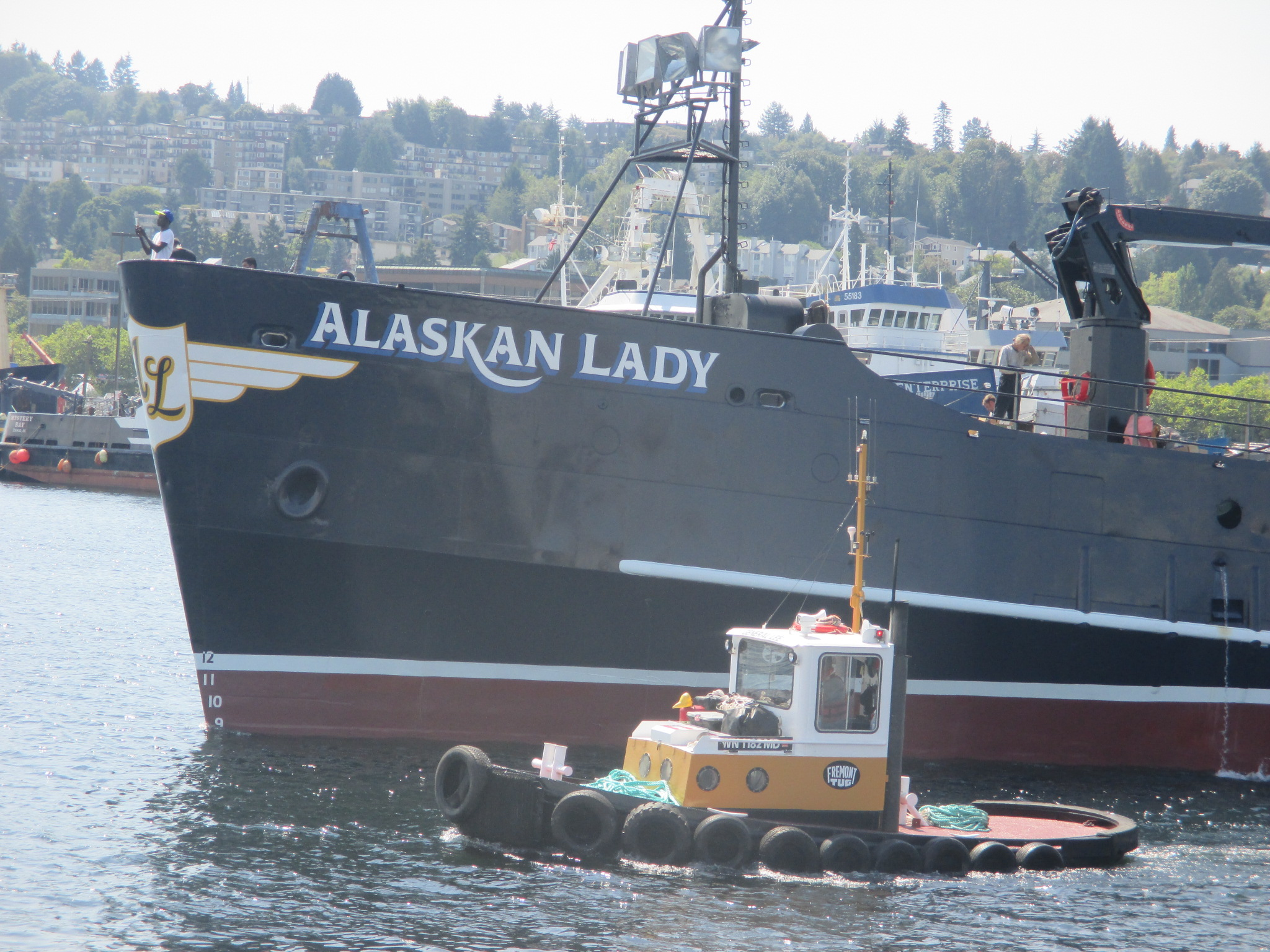 F v alaskan lady ak bering sea crabber getting a canal for Alaska fishing boats for sale