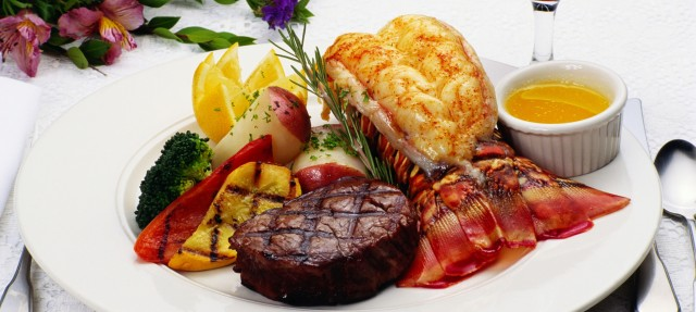 Surf & Turf, Lobster Tail & Beef Tenderloin Steak – Salty Dog Boaters, Try this Chef's Recipe ...