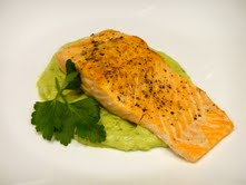This Chef Tris Recipe: Pan-seared Wild Salmon with Avocado Remoulade ...