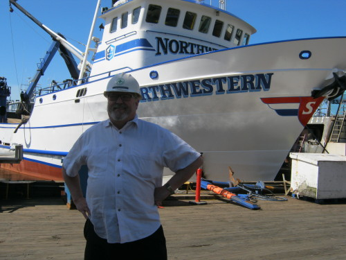 F/V Northwestern, Crabber - Pacific Fishermen Shipyard - A sunny day walk and talk with Doug! Northwestern Norwegian Sig is know to leave his house remodel sofa's out in the yard at Pacific Fishermen!