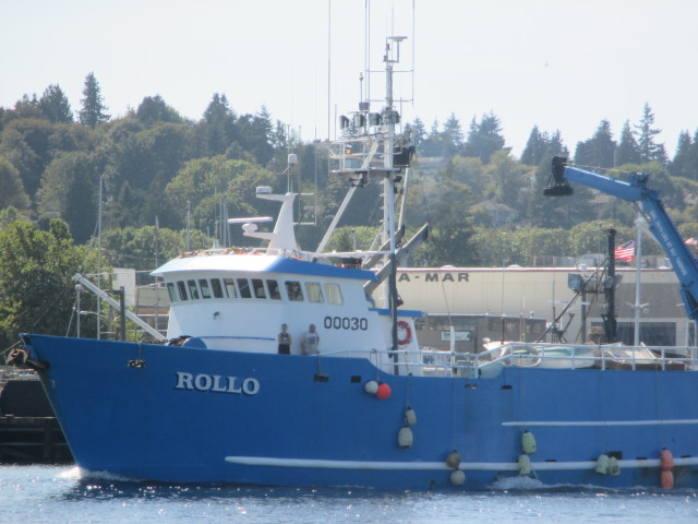 F/V ROLLO, AK Bering Sea Crabber, Passing SEA-MAR, heading into FIshermen's Terminal Seattle, Just got home from AK Summer Salmon Tendering!