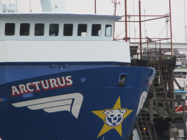 F/V Arcturus, Alaska Fishing for Pollock & Cod, Trident Seafoods, just got off the ways at Pacific Fishermen Shipyard Seattle WA