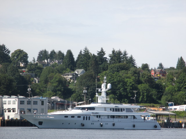 Invader, PNW Seattle Superyacht, Welcome to the Pacific Northwest - Just through the Ballard Locks East Bound up the Seattle Ship Canal, Top of the Morning!