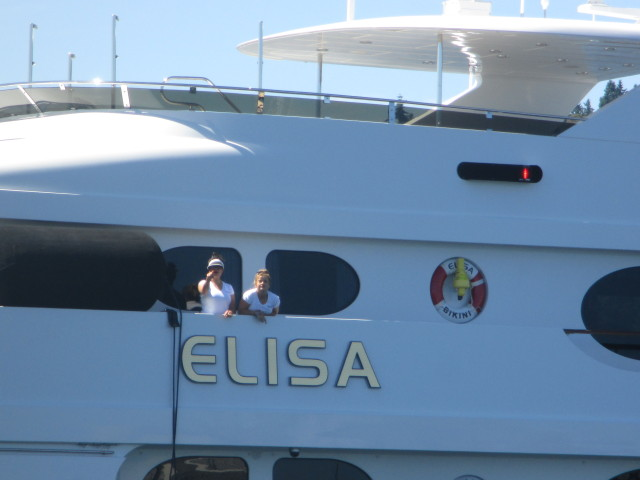 Elisa, Superyacht Just Arrived in Seattle Ship Canal, Welcome to the PNW!